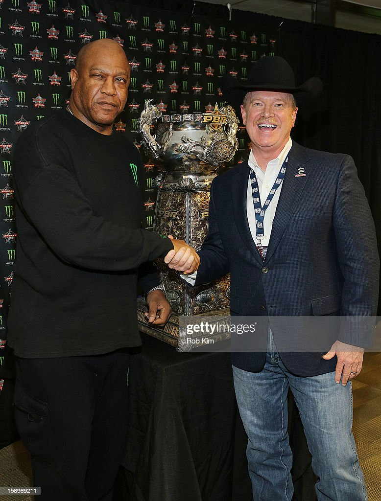Tommy 'Tiny' Lister (L) and Jim Haworth attend The Professional Bull Riders 2013 Monster Energy Invitational VIP Party at Madison Square Garden on January 4, 2013 in New York City.