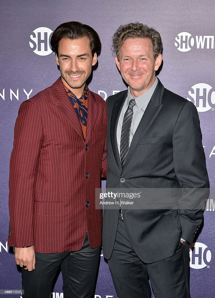 Tommy Tonge and executive producer <a gi-track='captionPersonalityLinkClicked' href=/galleries/search?phrase=John+Logan+-+Playwright&family=editorial&specificpeople=12792463 ng-click='$event.stopPropagation()'>John Logan</a> attend the 'Penny Dreadful' series world premiere at The Highline Hotel on May 6, 2014 in New York City.
