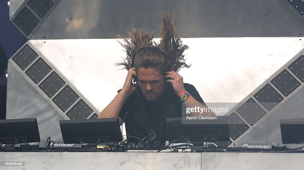 Tommy Trash performs at Ultra Musci Festival - Weekend 1 at Bayfront Park Amphitheater on March 17, 2013 in Miami, Florida.
