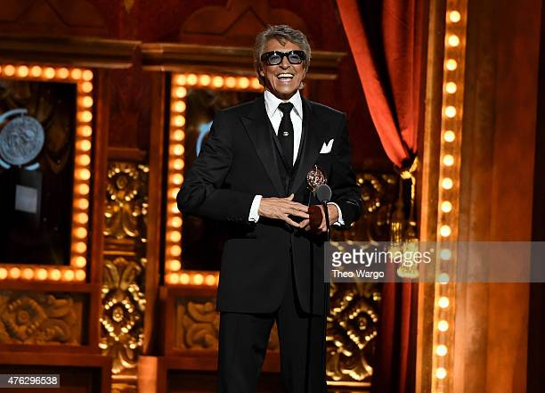 Tommy Tune accepts the Special Tony Award for Lifetime Achievement in the Theatre onstage during the 2015 Tony Awards at Radio City Music Hall on...