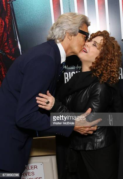 Tommy Tune and Bernadette Peters attends the Broadway Opening Night performance of 'Bandstand' at the Bernard B Jacobs Theatre on 4/26/2017 in New...