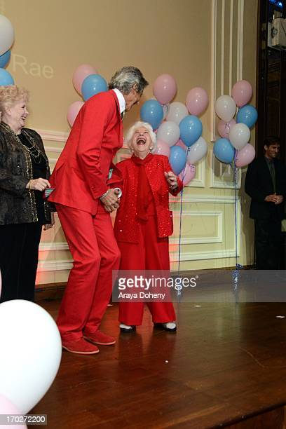 Tommy Tune and Charlotte Rae attend the the Actors Fund's 17th annual Tony Awards viewing party held at Taglyan Cultural Complex on June 9 2013 in...