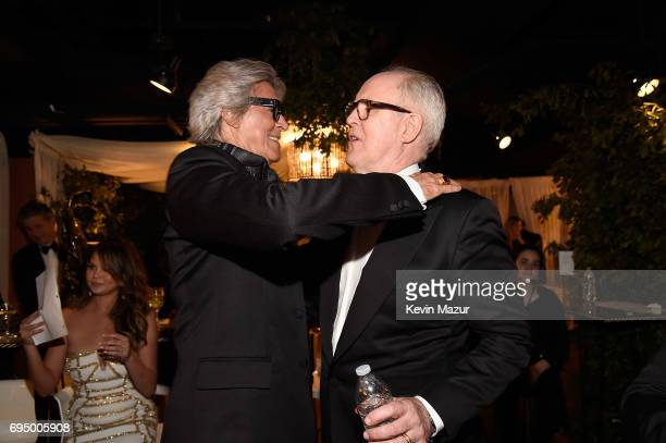 Tommy Tune and John Lithgow attend the 2017 Tony Awards at Radio City Music Hall on June 11 2017 in New York City