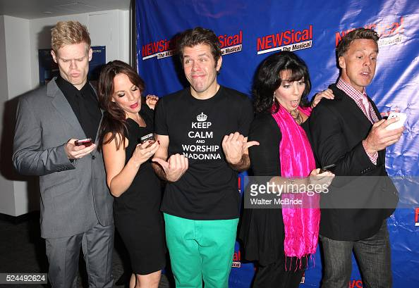 Tommy Walker Leslie Kritzer Perez Hilton Christine Pedi Michael West attending the Opening Night Performance of Perez Hilton in 'NEWSical The...