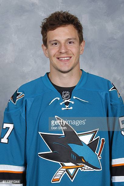 Tommy Wingels of the San Jose Sharks poses for his official headshot for the 201617 season on September 22 2016 at Sharks Ice in San Jose California