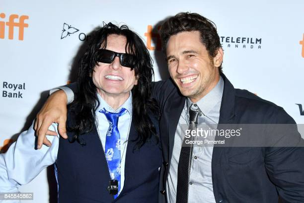 Tommy Wiseau and James Franco attend 'The Disaster Artist' premiere during the 2017 Toronto International Film Festival at Ryerson Theatre on...
