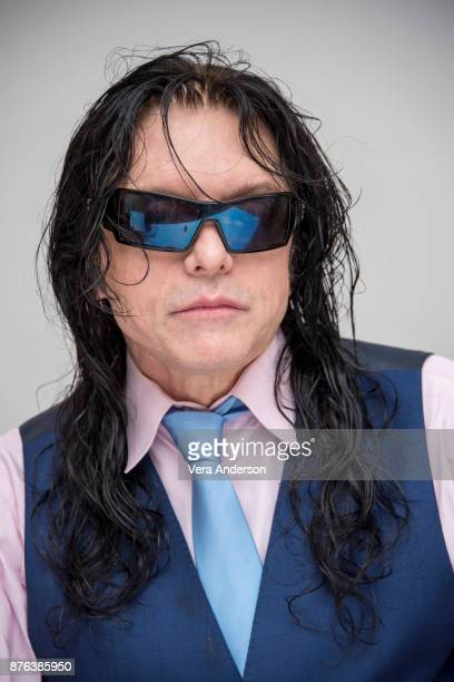 Tommy Wiseau at 'The Disaster Artist' Press Conference at the Four Seasons Hotel on November 18 2017 in Beverly Hills California