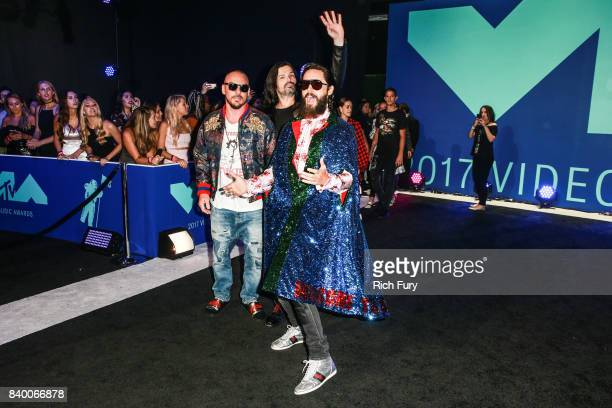 Tomo Milicevic Shannon Leto and Jared Leto of Thirty Seconds to Mars attend the 2017 MTV Video Music Awards at The Forum on August 27 2017 in...