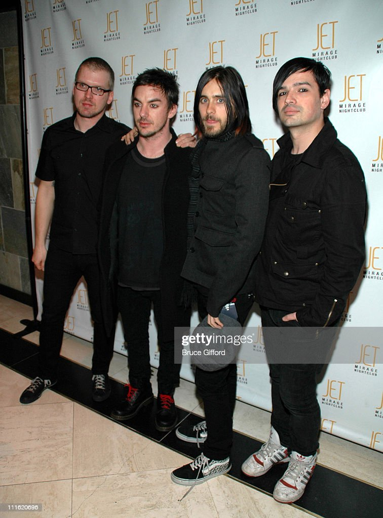 "30 Seconds To Mars Platinum Record Celebration For ""A Beautiful Lie"" at JET"