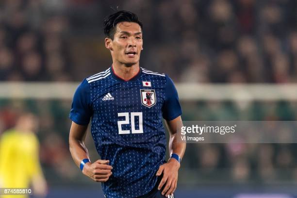 Tomoaki Makino of Japan during the friendly match between Belgium and Japan on November 14 2017 at the Jan Breydel stadium in Bruges Belgium