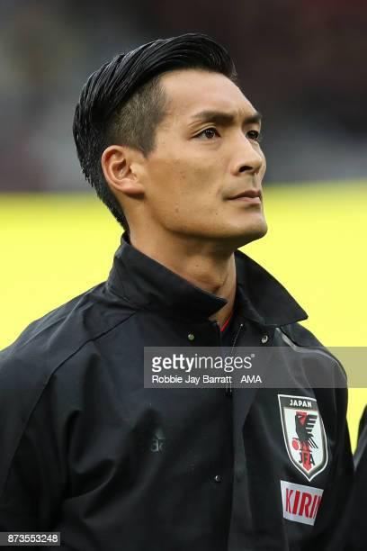 Tomoaki Makino of Japan during the international friendly match between Brazil and Japan at Stade PierreMauroy on November 10 2017 in Lille France