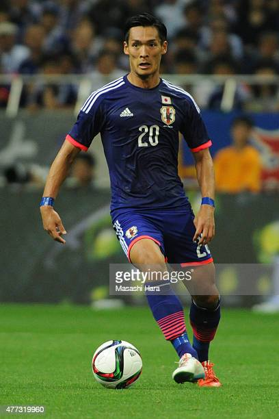 Tomoaki Makino of Japan in action during the 2018 FIFA World Cup Asian Qualifier second round match between Japan and Singapore at Saitama Stadium on...