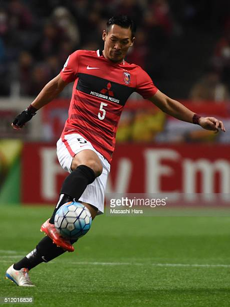 Tomoaki Makino of Urawa Red Diamonds in action during the AFC Champions League Group H match between Urawa Red Diamonds and Sydney FC at Saitama...