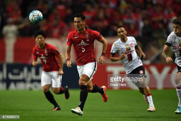 Tomoaki Makino of Urawa Red Diamonds in action during the AFC Champions League Group F match between Urawa Red Diamonds and Western Sydney at Saitama...