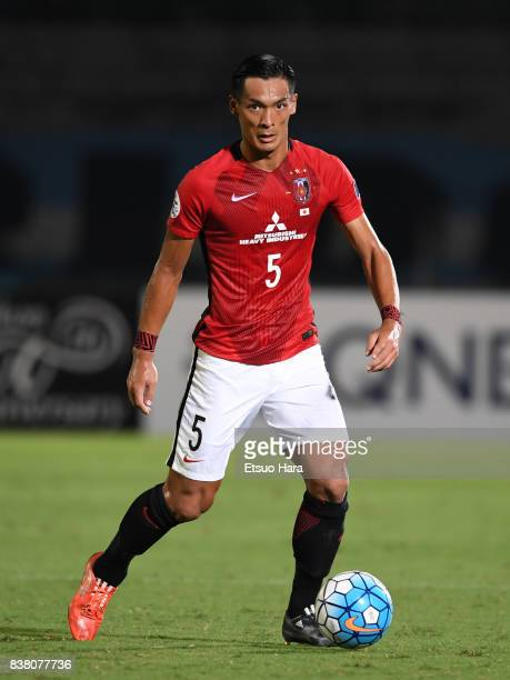 Tomoaki Makino of Urawa Red Diamonds in action during the AFC Champions League quarter final first leg match between Kawasaki Frontale and Urawa Red...
