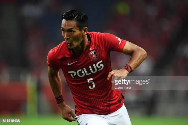 Tomoaki Makino of Urawa Red Diamonds in action during the JLeague J1 match between Urawa Red Diamonds and Albirex Niigata at Saitama Stadium on July...