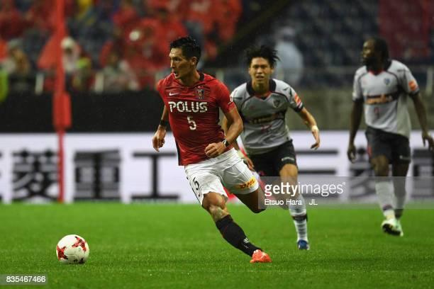 Tomoaki Makino of Urawa Red Diamonds in action during the JLeague J1 match between Urawa Red Diamonds and FC Tokyo at Saitama Stadium on August 19...