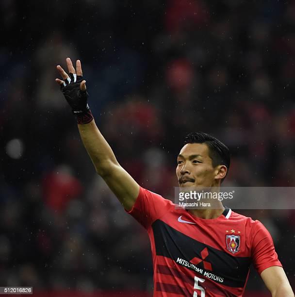 Tomoaki Makino of Urawa Red Diamonds looks on after the AFC Champions League Group H match between Urawa Red Diamonds and Sydney FC at Saitama...