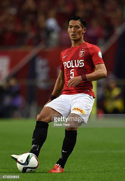 Tomoaki Makino of Urawa Reds in action during the JLeague match between Urawa Red Diamonds and Kashima Antleres at Saitama Stadium on May 23 2015 in...