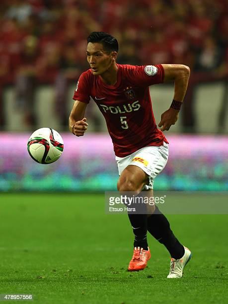 Tomoaki Makino of Urawa Reds in action during the JLeague match between Urawa Red Diamonds and Albirex Niigata at Saitama Stadium on June 27 2015 in...