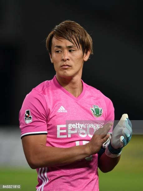 Tomohiko Murayama of Matsumoto Yamaga looks on prior to the JLeague J2 match between Tokyo Verdy and Matsumoto Yamaga at Ajinomoto Stadium on...