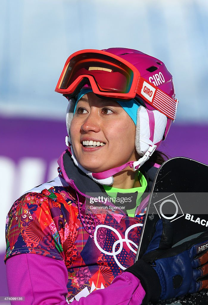 <a gi-track='captionPersonalityLinkClicked' href=/galleries/search?phrase=Tomoka+Takeuchi&family=editorial&specificpeople=6719453 ng-click='$event.stopPropagation()'>Tomoka Takeuchi</a> of Japan smiles after the Snowboard Ladies' Parallel Slalom Qualification on day 15 of the 2014 Winter Olympics at Rosa Khutor Extreme Park on February 22, 2014 in Sochi, Russia.
