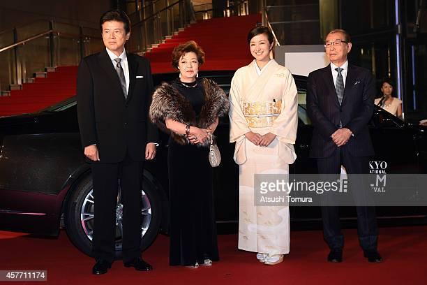Tomokazu Miura Takae Kawamura Kyoka Suzuki and Naotake Yoshida arrive at the opening ceremony during the 27th Tokyo International Film Festival at...
