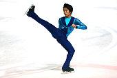 Tomoki Hiwatashi of United States skates during the junior men short dance of the ISU Junior Grand Prix at Dom Sportova on October 8 2015 in Zagreb...