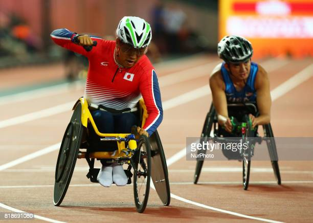 Tomoki Sato of Japen compete in Men's 400m T52 Final during IPC World Para Athletics Championships at London Stadium in London on July 18 2017