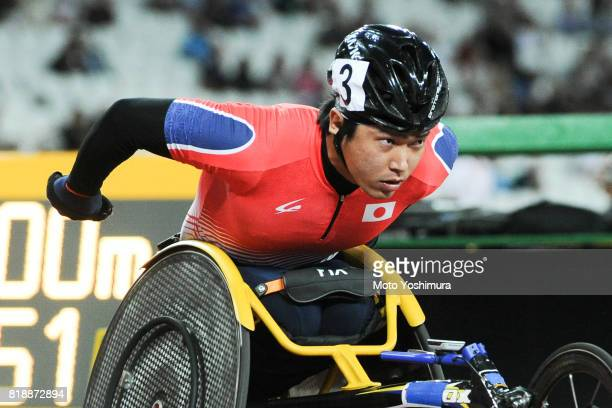 Tomoki Suzuki of Japan competes in the Men's 800m T54 Final during the IPC World ParaAthletics Championships 2017 at London Stadium on July 17 2017...