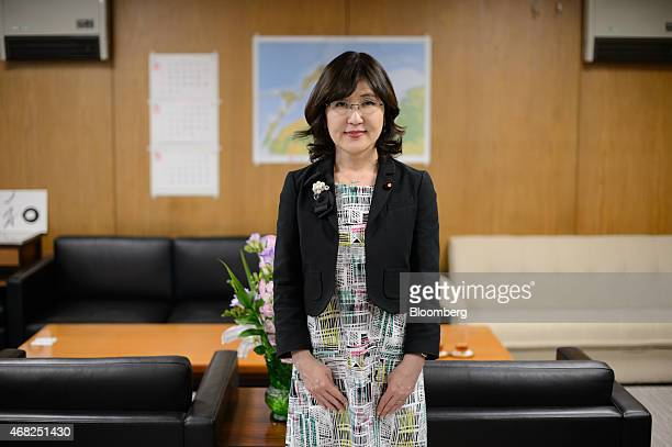 Tomomi Inada chairwoman of the Policy Research Council of the Liberal Democratic Party of Japan poses for a photograph after an interview in Tokyo...