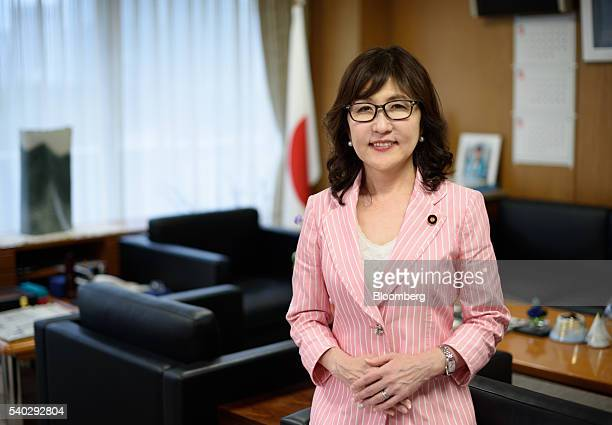 Tomomi Inada chairwoman of the Policy Research Council of the Liberal Democratic Party of Japan poses for a photograph in Tokyo Japan on Wednesday...