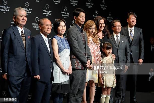 Tomomi Itano Rio Suzuki Yuta Hiraoka and Angela Missoni attend the opening ceremony of Mercedes Benz Fashion Week Tokyo S/S 2014 at Shibuya Hikarie...