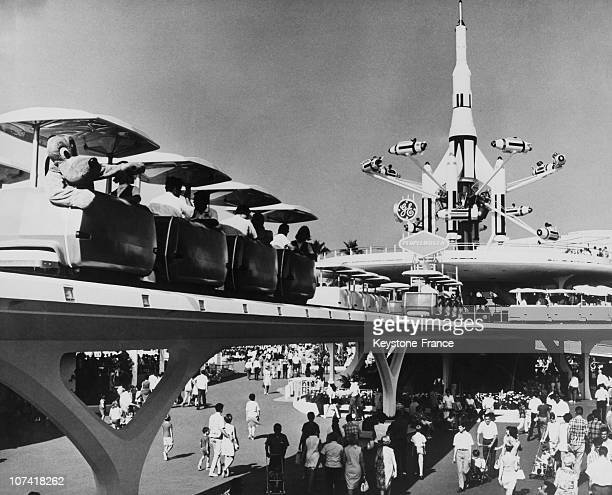 Tomorrowland People Mover At Disneyland Park In California