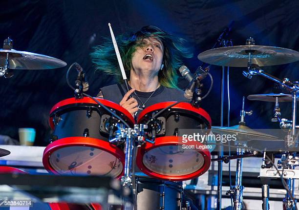 Tomoya Kanki of One OK Rock performs at The Palace of Auburn Hills on July 27 2016 in Auburn Hills Michigan
