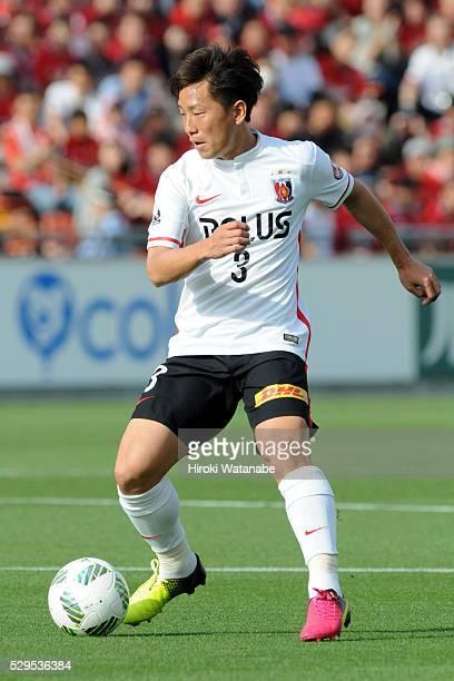 Tomoya Ugajin of Urawa Red Diamonds in action during the JLeague match between Omiya Ardija and Urawa Red Diamonds at the Nack 5 Stadium Omiya on May...