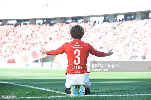 Tomoya Ugajin of Urawa Red Diamonds looks on during the 95th Emperor's Cup semi final match between Urawa Red Diamonds and Kashiwa Reysol at...