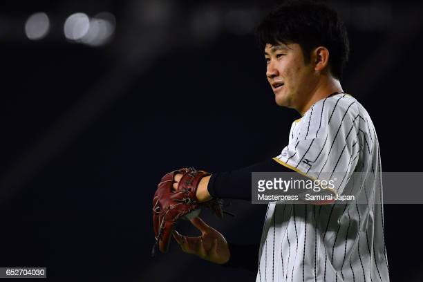 Tomoyuki Sugano of Japan is seen on the practice day during the World Baseball Classic at the Tokyo Dome on March 13 2017 in Tokyo Japan