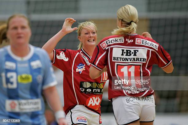 Toms Ligaen Ikast/Bording jubel Karen Broedsgaard Gro Hammerseng