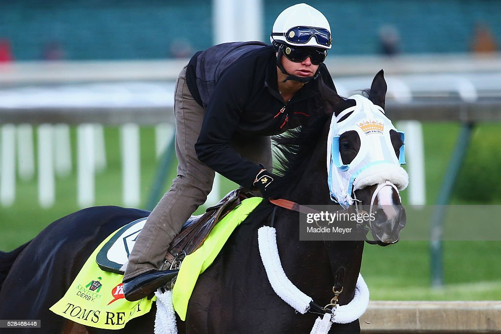 Tom's Ready trains on the track for the Kentucky Derby at Churchill Downs on May 05, 2016 in Louisville, Kentucky.