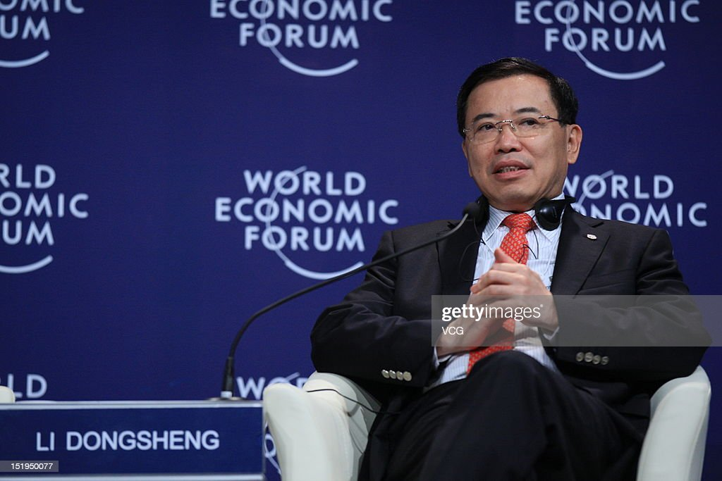 Tomson Li Dongsheng, Chairman and Chief Executive Officer of TCL Corporation, attends the interactive session 'Chinese Globalizers - Connecting through Corporate Global Citizenship' during the 2012 Tianjin Summer Davos at Meijiang Convention and Exhibition Center on September 13, 2012 in Tianjin, China. World Economic Forum 2012 Tianjin Summer Davos will be held from September 11 to 13, with the theme of 'Creating the Future Economy'.