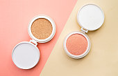 Tonal foundation and highlighter, base for make-up in cushion.