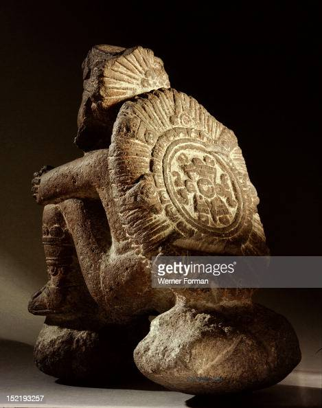 Tonatiuh the sun god with a symbol representing an earthquake on his back According to astrological reckonings an earthquake would finally end the...