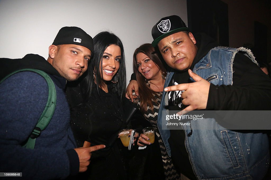 Tone, Ramona Rizzo, Karen Gravano, and Tuge attend A$AP Rocky's 'LOVE.LIVE.A$AP' Album Release Party at The Hole on January 15, 2013 in New York City.