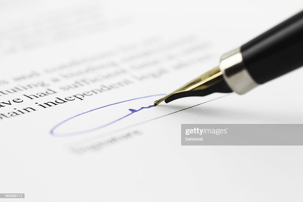 Toned signature : Stock Photo