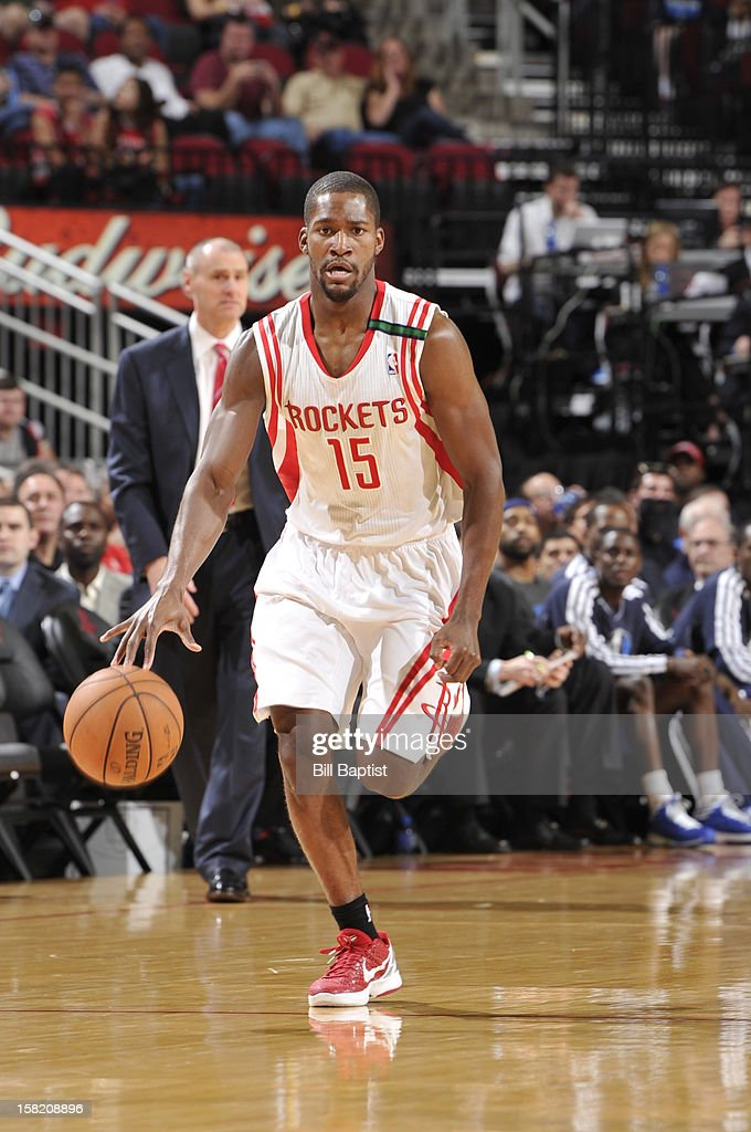 <a gi-track='captionPersonalityLinkClicked' href=/galleries/search?phrase=Toney+Douglas&family=editorial&specificpeople=2536966 ng-click='$event.stopPropagation()'>Toney Douglas</a> #15 of the Houston Rockets handles the ball against the Dallas Mavericks on December 8, 2012 at the Toyota Center in Houston, Texas.