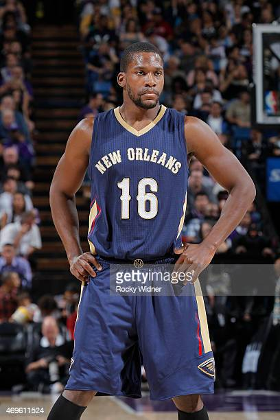 Toney Douglas of the New Orleans Pelicans looks on during the game against the Sacramento Kings on April 3 2015 at Sleep Train Arena in Sacramento...