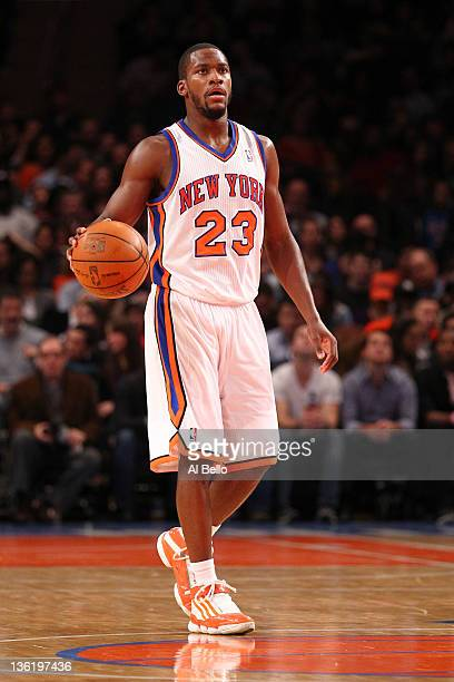 Toney Douglas of the New York Knicks in action against the New Jersey Nets during their pre season game at Madison Square Garden on December 21 2011...