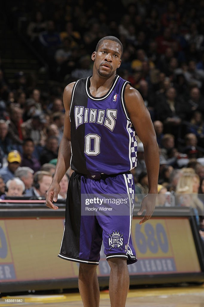 <a gi-track='captionPersonalityLinkClicked' href=/galleries/search?phrase=Toney+Douglas&family=editorial&specificpeople=2536966 ng-click='$event.stopPropagation()'>Toney Douglas</a> #0 of the Sacramento Kings in a game against the Golden State Warriors on March 6, 2013 at Oracle Arena in Oakland, California.