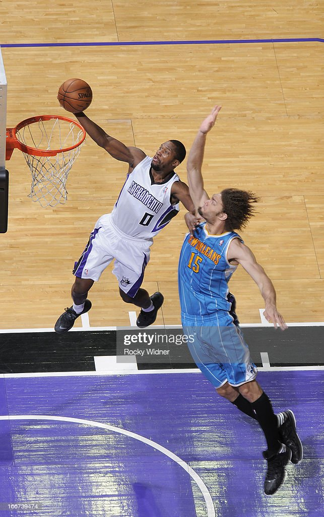 <a gi-track='captionPersonalityLinkClicked' href=/galleries/search?phrase=Toney+Douglas&family=editorial&specificpeople=2536966 ng-click='$event.stopPropagation()'>Toney Douglas</a> #0 of the Sacramento Kings shoots against <a gi-track='captionPersonalityLinkClicked' href=/galleries/search?phrase=Robin+Lopez&family=editorial&specificpeople=2351509 ng-click='$event.stopPropagation()'>Robin Lopez</a> #15 of the New Orleans Hornets on April 10, 2013 at Sleep Train Arena in Sacramento, California.